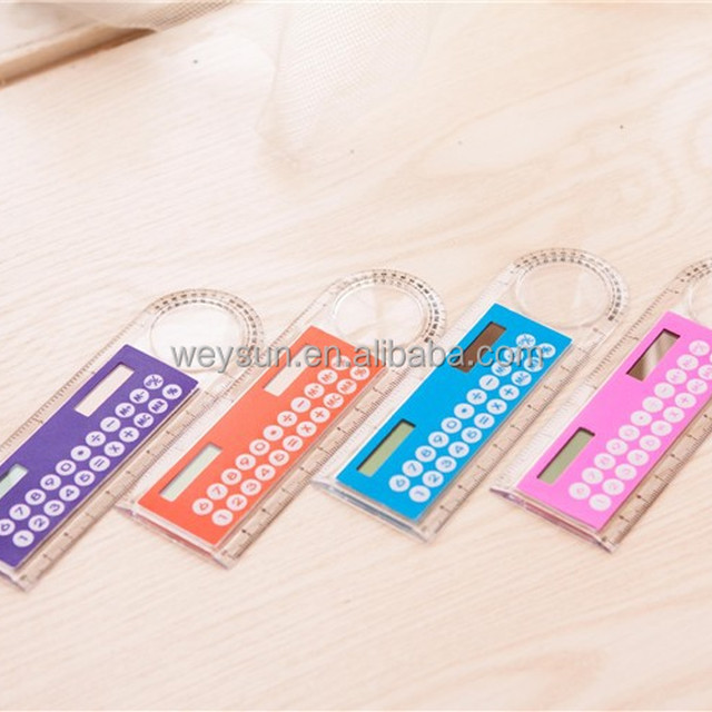 stationery card computer ruler multifunctional calculator magnifying glass
