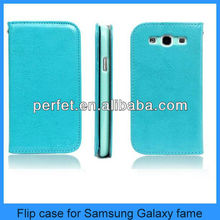 PU leather flip case for samsung galaxy fame S6810/S6812(PT-S6810L201)