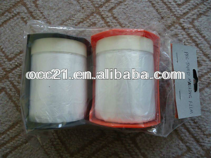 Plastic HDPE Masking Film with Cloth/Paper Tape