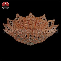 crown shaped new crystal ceiling light 650*H230mm