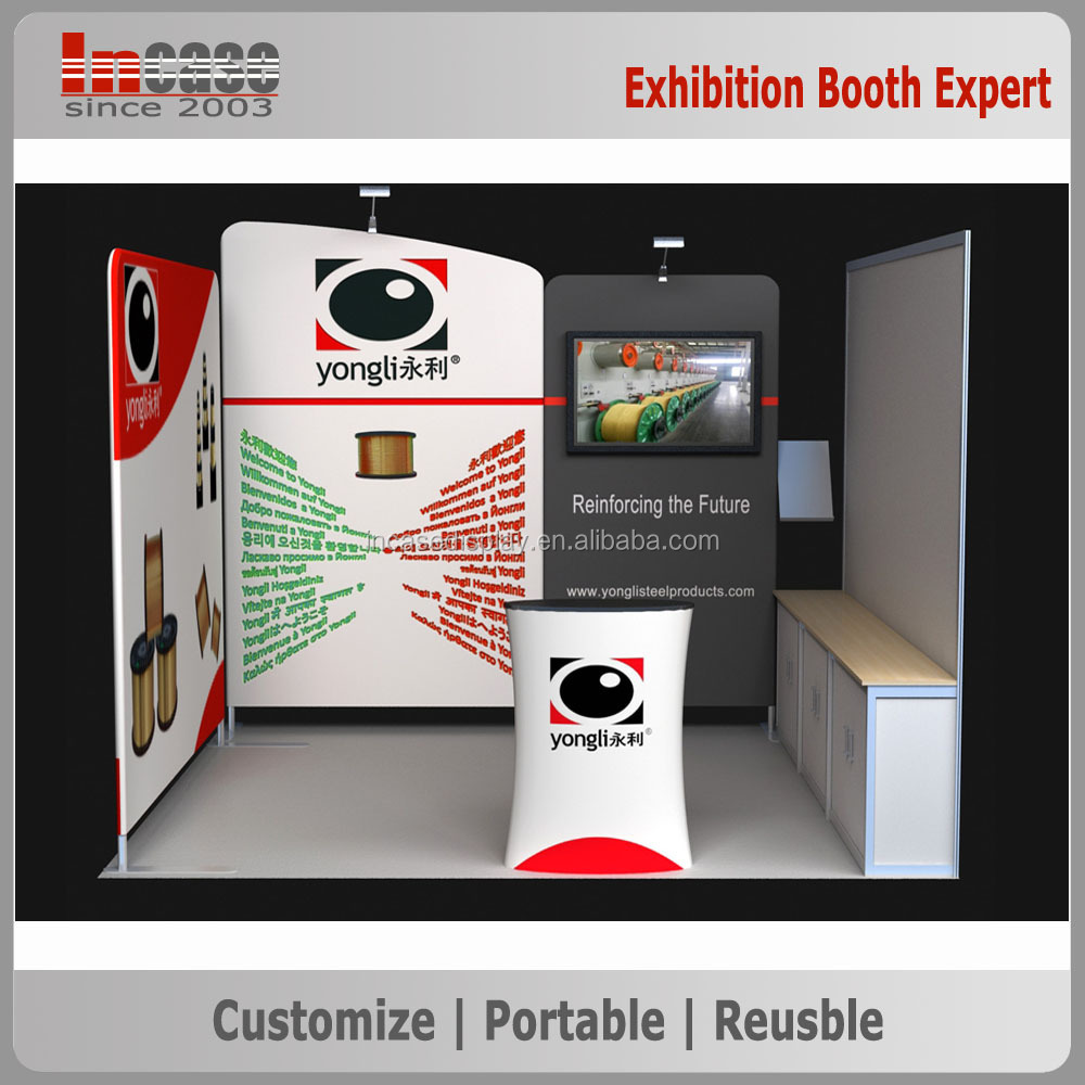 High-Quality affordable long use exhibit booth stand, unique exhibition booth construction