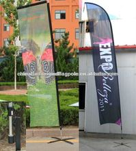 Teardrop flag,feather banner display in roadside for promotion