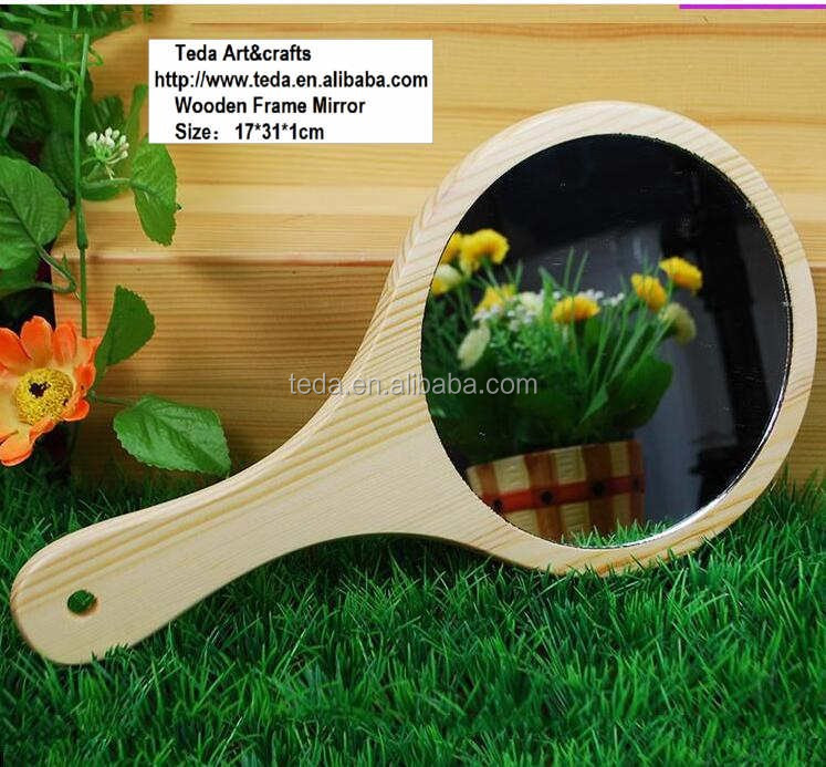 Wooden Frame Handmade Unfinished Wood Mirror (21)