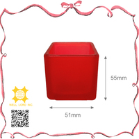 Enthusiasm red candle container for romantic wedding decoration