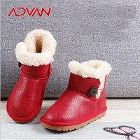 Hot Sale Wholesale High Quality PU Red Kids Winter Boots