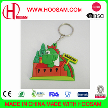 Factory OEM keychain, custom 3D injection soft pvc rubber keyring