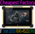 Cheapest factory 8inch win10 quad core IP65 rugged tablet pc computer with RJ45 ethernet port industrial tablet pc computer IP65
