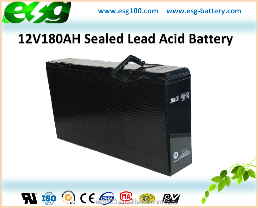 12V 180AH front access medical equipment Sealed lead acid agm battery