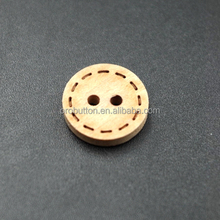 Fashion two hole sewing custom wood shirt buttons