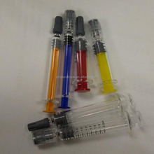 1ml/2.25ml/3ml/5ml dab applicator glass syringe with colored plunger