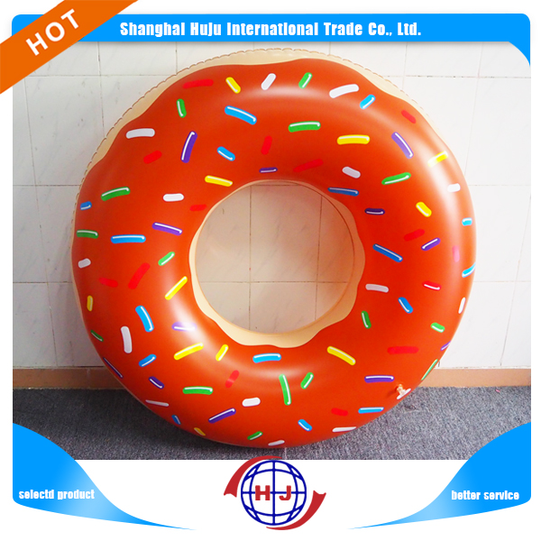 Customized new style Summer inflatable pool float swimming ring donut