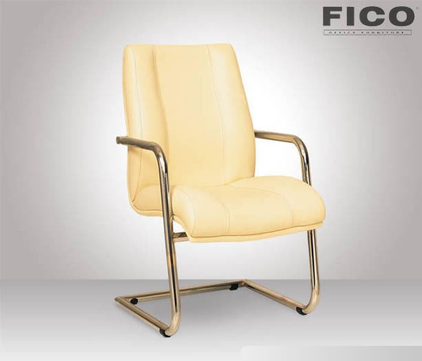 ER250 MUSTANG U LEG VISITOR CHAIR | CREAM LEATHER