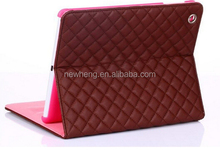 For ipad 2 3 4 new plaid leather case