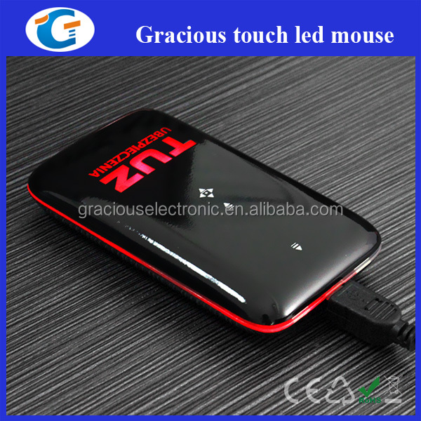 Custom laser engraved 3D wired touch mouse