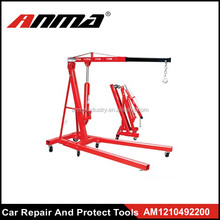 2 Ton Hydraulic Foldable Engine Hoist Cherry Picker Shop Crane Jack Lift