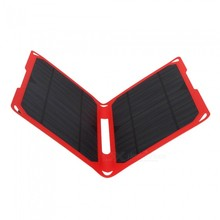 Portable Foldable Solar Charger 14w Outdoor Solar Panel Charger USB Battery Charging For Phone Power Bank