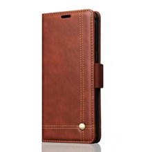 Android phone accessories for samsung note 8 retro leather case, leisure style PU leather case for samsung note 8