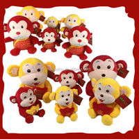 HI CE new year 2016 monkey,soft plush monkey,animal monkey soft keychain
