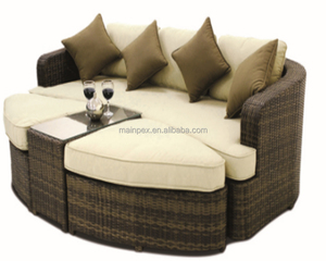 Modern Design Outdoor Rattan Garden Furniture Rattan Sofa Circle Corner Sofa Set
