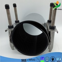 CR-2 2016 Dalian Zhuhong Stainless Steel Band Repair Clamp/good price SS304 water pipes crack fixing pipe tube joints