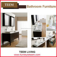 Natural marble melamine wall hung mirror white bathroom knock down bathroom vanity cabinet z103