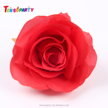 Cheap artificial fake fabric flower stem rose mix color red roses flower for wedding decoration