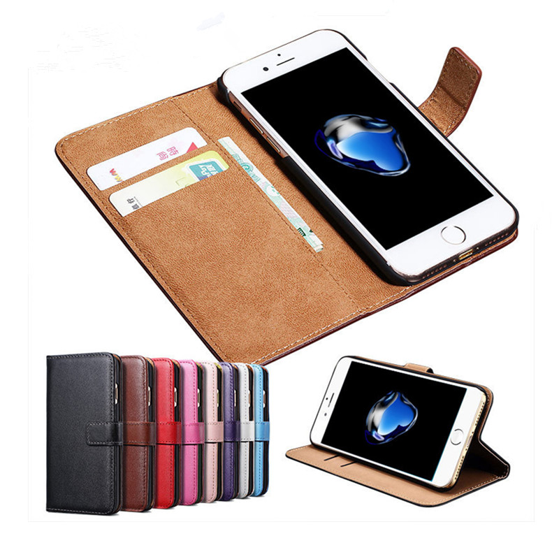 for iphone 7 case Genuine leather, wallet case for iphone 7, cover for apple iphone 7 plus