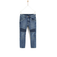 High quality OEM service children denim clothing kids boys biker jeans