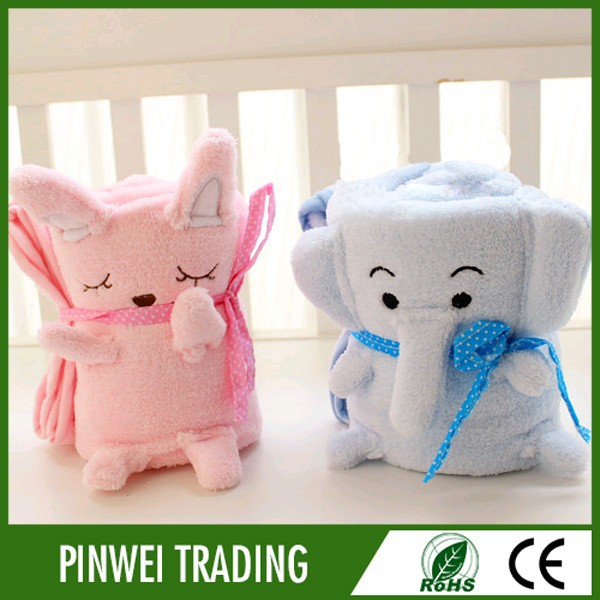 2015 new china products animal head plush knitted baby minky blanket