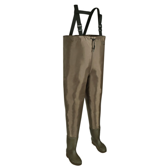 Nylon and PVC Cleated Bootfoot Chest Fishing Waders