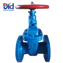 "Cast Iron High Quality PN10 2 1/2"" Inch Rising Stem Manual Handwheel Water Industrial Flanged End Gate Valve"