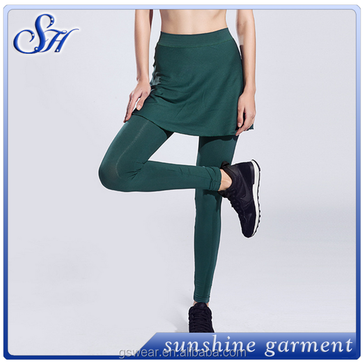 customized plain dry fit yoga pants womens fashion style with skirt yoga leggings