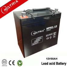 Vented gel recycle 55ah electric scooter rechargeable battery