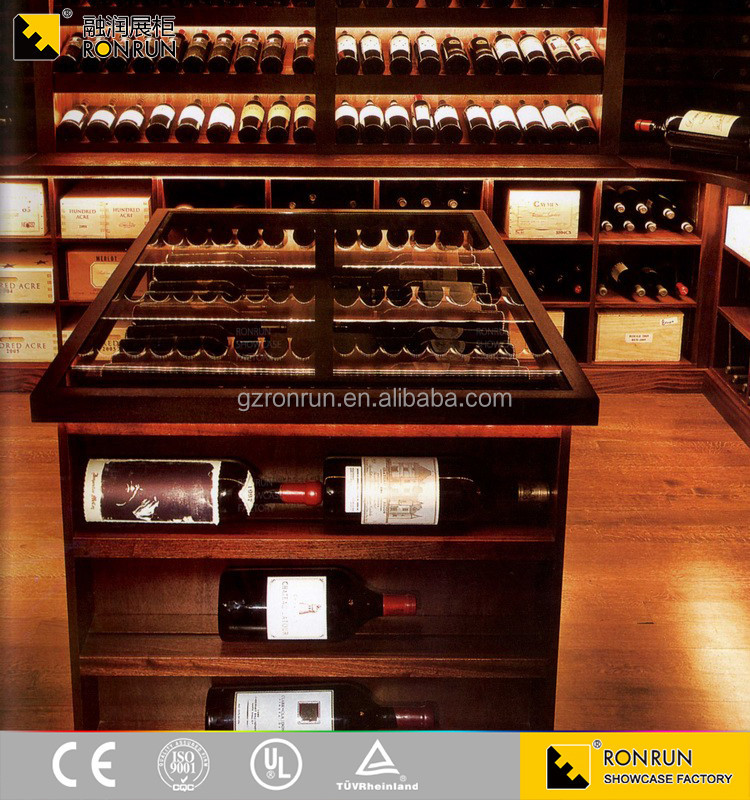 Fashion Design Top Quality Wooden Wine Rack for Shopping Mall