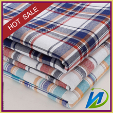 wholesale check pattern shirt fabric, plaid children school uniform fabric