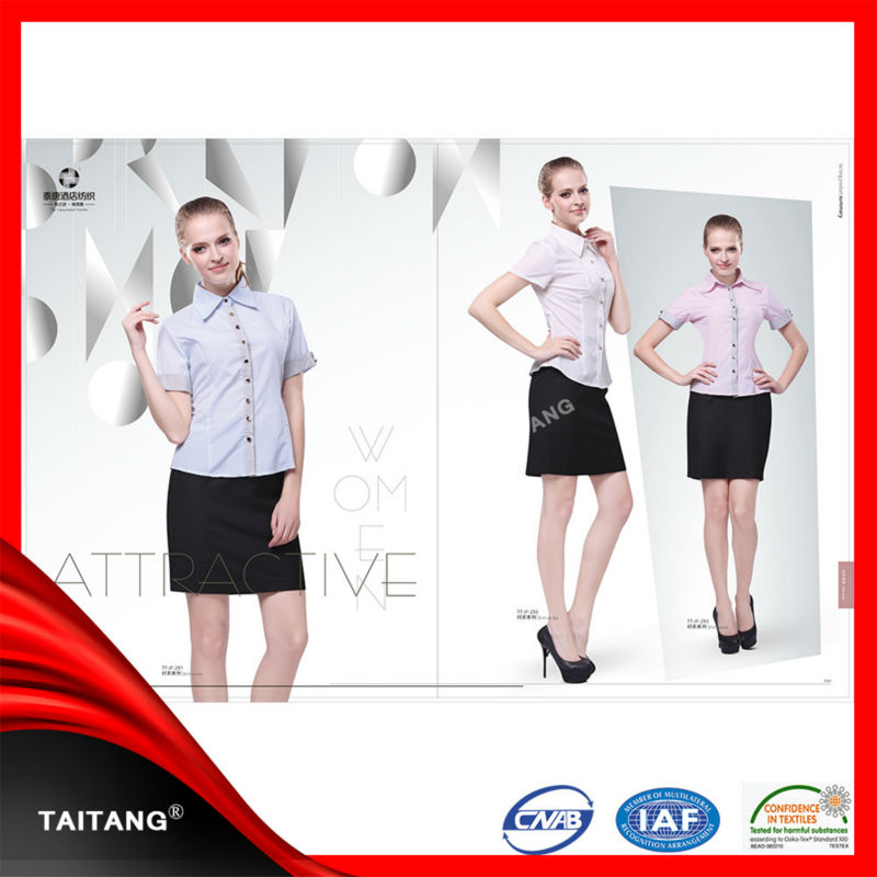 high quality 2014 hot sell Blend Long Sleeve New Arrival stylish chinese collar office uniform
