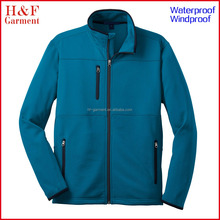 Men winter jacket wind resistant cheap softshell jacket in blue