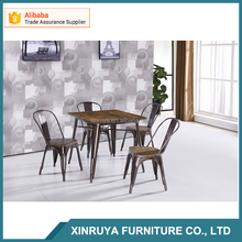 outdoor metal table and chairs,commercial table