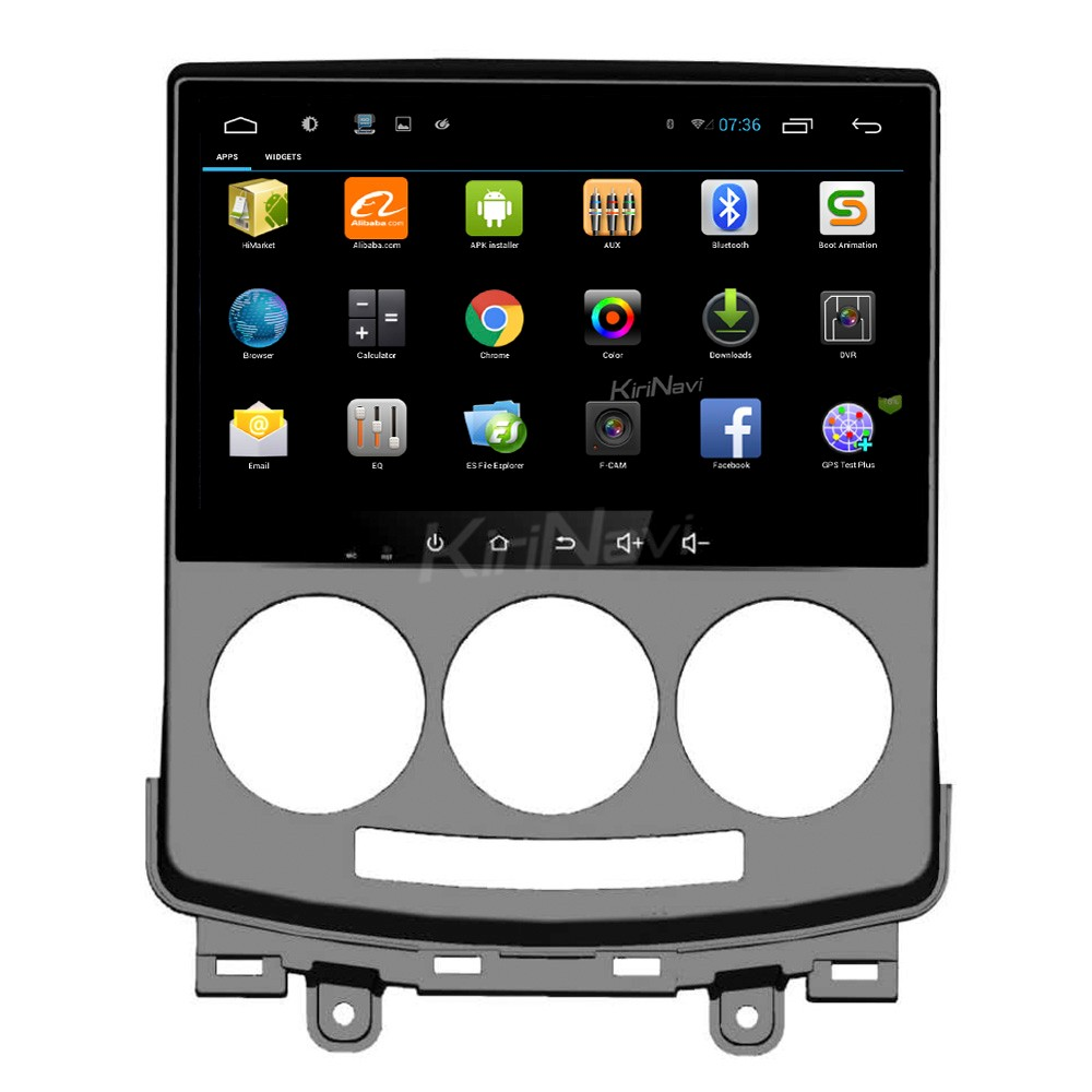 "Kirinavi oem WC-MZ9059 9"" android 6.0 navigation android car dvd player for mazda 5 2005 - 2009 SWC OBD2"