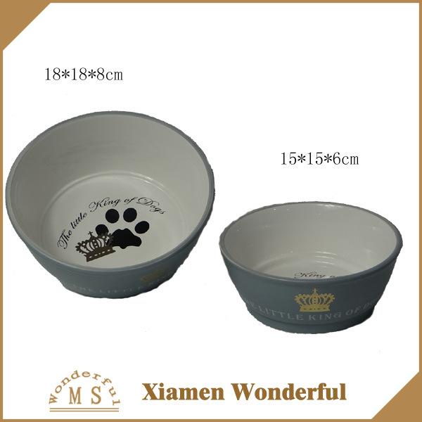 pet accessory ceramic dog bowl food water dish for wholesale