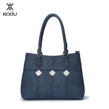KKXIU brand name faux blue leather african shoes and bags ladies fashion handbags in guangzhou