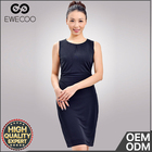 Fashion Black O Neck Sleeveless Bodycon Women Dress