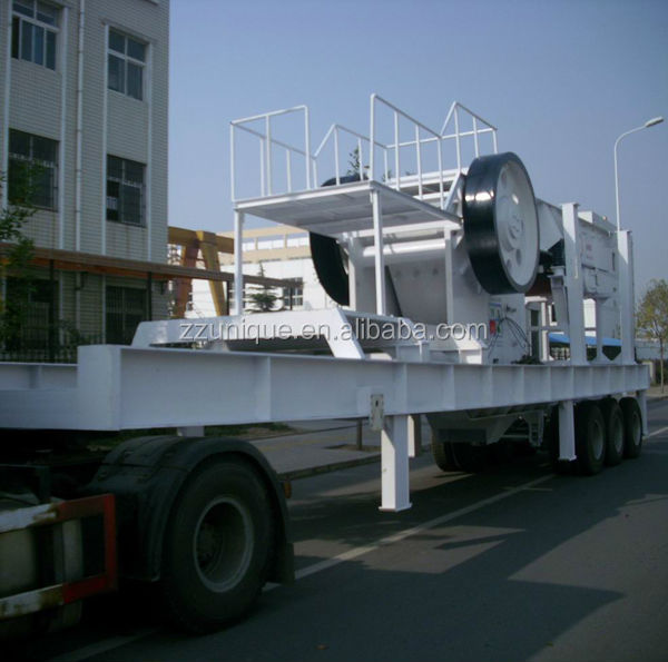 white China big capacity portable crusher plant for Construction