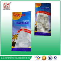 BACALAO FILETES plastic flexile packaging pet/cpp heat seal bags for seafood packaging