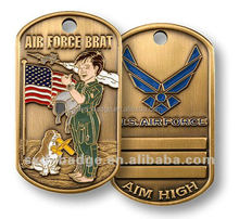 New Army dog tag for breed dog for adoption factory direct