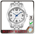 2013 luxury men stainless steel back swiss movement geneva quartz watch