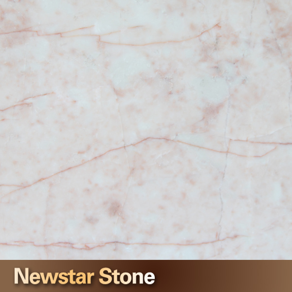 Polished cream rose pink marble white pink vein marble