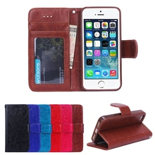 BRG Retro Multi-Function Style Leather Case For iPhone 5 With Credit Card Holder+Photo Frame+Wallet Bag