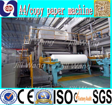 Zhengzhou writing paper production line of waste and newspapers and magazines printing machines, a4 paper from plant