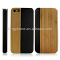 2014 new products arrival and hot selling wooden leather case for iphone5